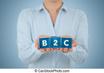b2c, business, consommateur