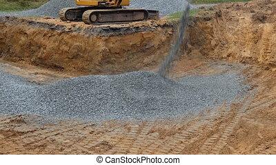 backfilling, excavation, pierre, fondation