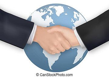 backgroun, business, poignée main