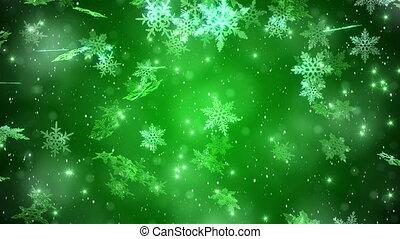 """background."""", """"big, neige, noël, particules, vert, flocon de neige"""