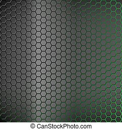 backlight., résumé, vert, arrière-plan., hexagones