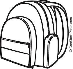 (backpack, sac, école, bag), meute