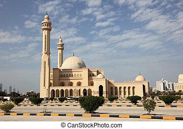 bahrain, fateh, mosquée, al, manama, grandiose