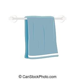 bain, vecteur, serviette