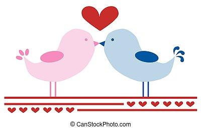 baisers, aimer oiseaux