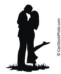 baisers, amants