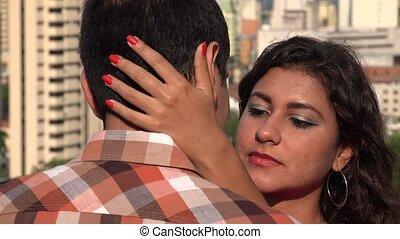 baisers, couple, amour