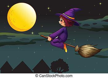 balai, sorcière