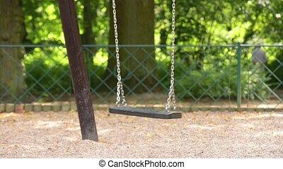 balançoire, parc, mouvementde va-et-vient