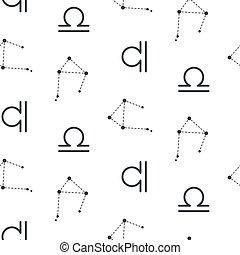 balance, constellation, vecteur, pattern., seamless
