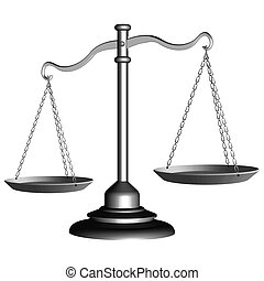 balance justice, argent