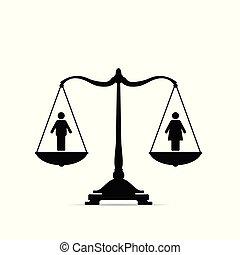 balances, égalité, illustration, icône