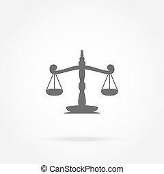 balances, icône, justice