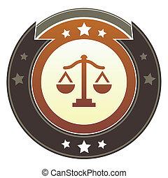 balances, justice, impérial, bouton
