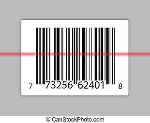 balayage, barcode, laser, il