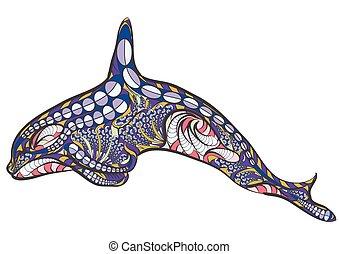 baleine, tueur, ethnique