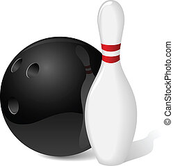 balle, épingle, bowling