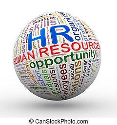 balle, étiquettes, hr, wordcloud, ressources humaines, 3d