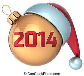 balle, année, noël, nouveau, 2014, babiole