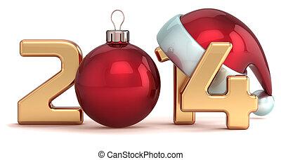balle, année, nouveau, 2014, noël, heureux