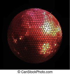 balle, brillant, fond, disco
