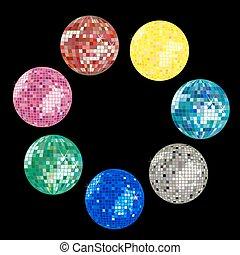 balle, collection, disco