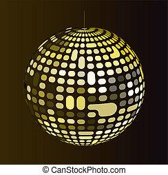 balle, disco, brillant