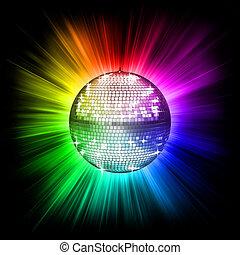 balle, disco, coloré