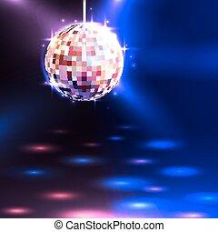balle, fond, disco