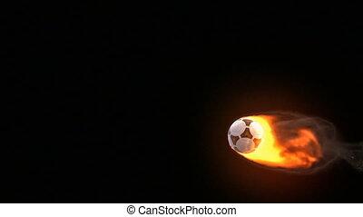 balle, football, brûler
