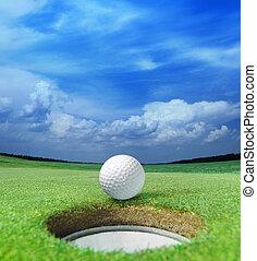 balle golf, lèvre
