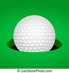 balle, golf, tasse