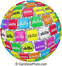 balle, mot, techniques, requis, expérience, sphère, métier, carrière