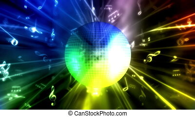 balle, musique, fond, boucle, disco