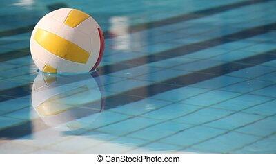 balle, piscine, natation