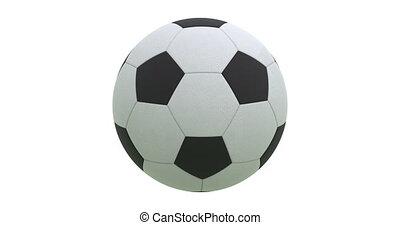 balle, render., tourner, 4k, alpha, football, 3d