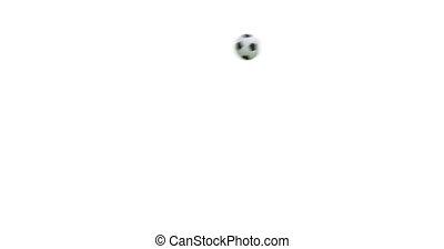 balle, render., voler, 4k, alpha, football, 3d