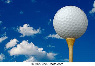 balle, tee golf, &