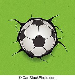 balle, toqué, football, fond