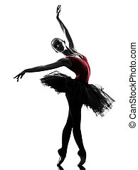 ballerine, ballet, danse femme, jeune, danseur
