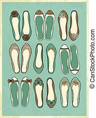 ballerine, chaussures, collection