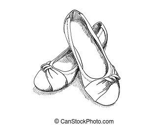 ballerine, chaussures