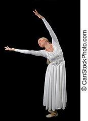 ballerine, prolongé, bras