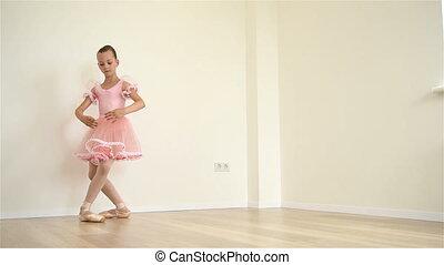 ballerine, séance entraînement