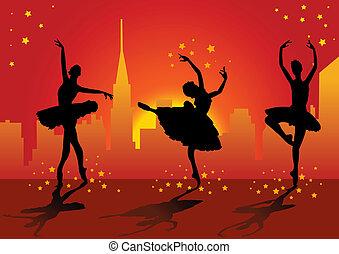 ballerine, silhouettes