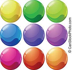 balles, coloré