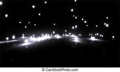 balles, lumière, large, rebondir, blanc