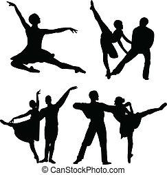 ballet, vecteur, -, collection