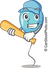 ballon bleu, jouer, forme, anniversaire, base-ball, dessin animé