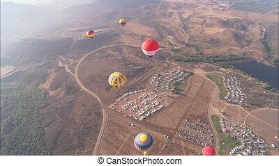 ballons, chaud, aérien, ws, air